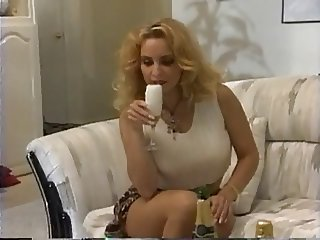 Drunk housewife fucks two brothers hard