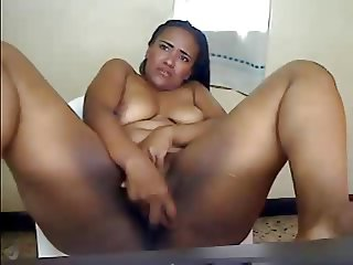 Cute Chubby Latina Masturbates and Squirts