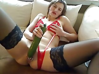 Mature Double Cucumber Slut