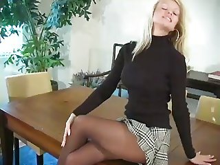 JOI pantyhose tease with CEI