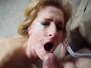 Redhead Milf  Mature Gets Hot Facial
