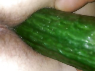 cucumber fun with my  GF