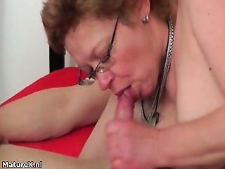 See how this granny with hairy pussy part1