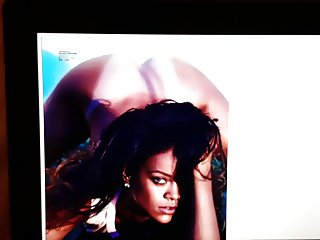 Rihanna topless tribute