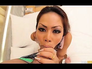 Thirsty and horny ladyboy Ola takes a Ramon cock in her