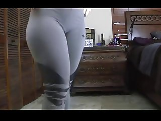 lady sexy dance in leggings big booty remix