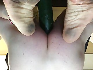 Shayna Riding Big Cucumber