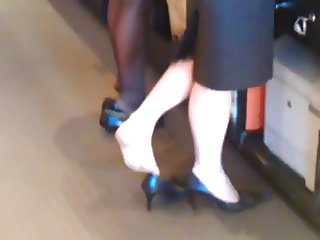 Candid Feet Shoeplay Legs Hotel Ladies some Nylons