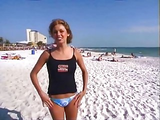 Public Nudity 10: She strips in front of friends for a bet