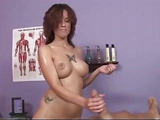 Titty fuck and Blowjob from sexy massage Slut
