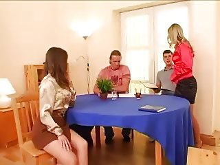 Satin Blouse Foursome