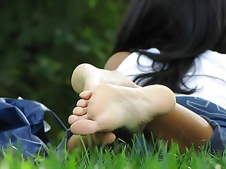 soles feet at central park in ny