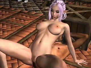 Sexy 3D pink haired elf babe gets fucked hard