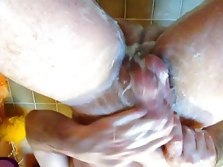 Massage and Wash my cock and balls ton clean them well :-)