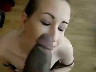 Big black cock giving white girl facial
