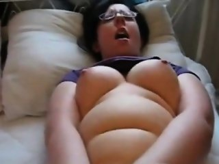 Slut fingered and fucked with vibrator