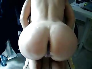 Cumshot over stepmoms ass
