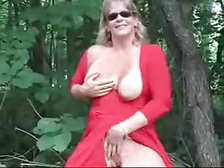 Exhibition of gorgeous mature bitch outdoor. Amateur older