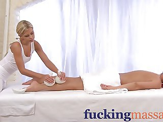 Massage Rooms Teen comes in for nuru oil orgasm by girl