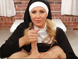 Hot nun strokes your cock ( JOI POV )