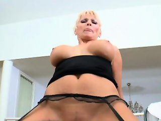 Glamour busty milf black dick anal fuck
