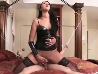 Alexis teases chastity slave