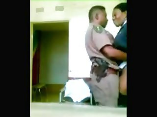 Nigerian Police Couple fucks in Station