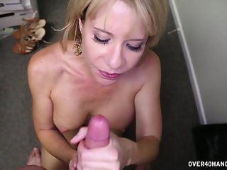 Handjob And Facial In The Office