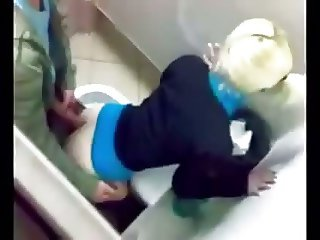 Couple caught fucking in the school bathroom