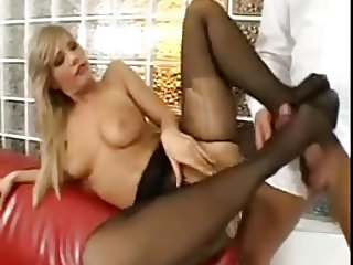 Tiffany Rousso black pantyhose