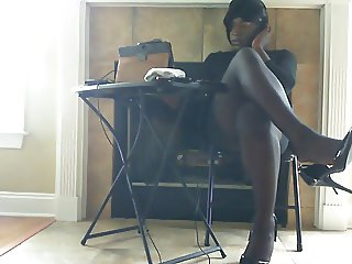 Pantyhose and Heels Leg, Foot, Ass and Cock Tease