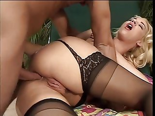 Big dick dude cornered into banging a horny big tits hottie