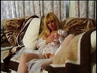 Old blond bitch in lingerie gets fucked