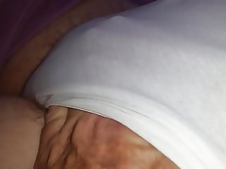 fat hairy pussy pubes in white cotton pantys