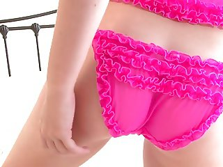 Brook Little's hot frilly underwear doesn't stay on long