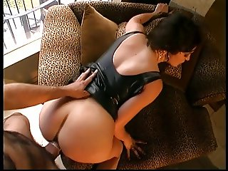 Brunette anal slut sucks cock and has her holes banged and face creamed