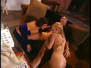 Two anal chicks and a guy fucking
