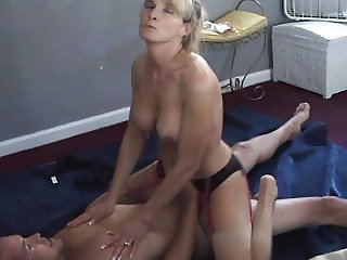 Wife talks dirty while cuckold husband films her with bull