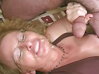 mature blonde slag threesome mmf