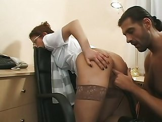 Anal  in the office with a cutie Mimi
