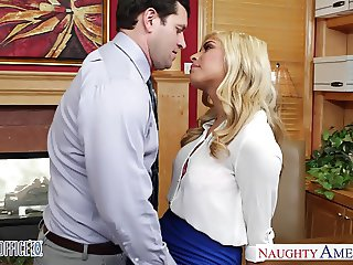 Busty blonde Gemma Jolie gets nailed in the office