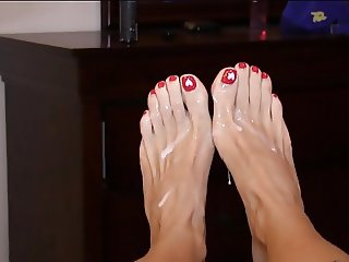 How To Cum On Mature Feet