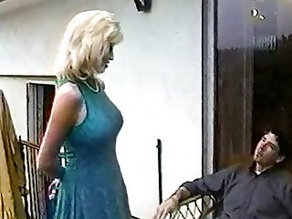 Mature blonde with fat ass gets fucked in interracial threesome