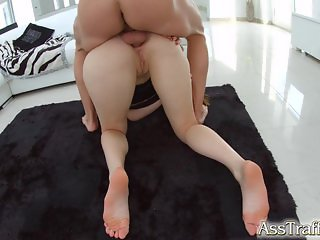Asstraffic redhead is fucked in the ass