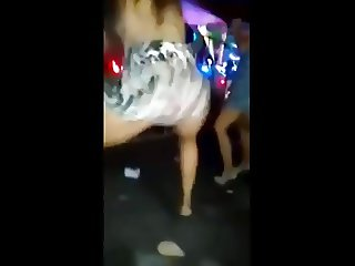 slut showing off on the dance