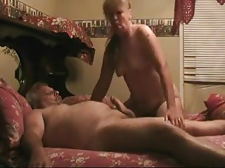 Grandma blows grandpa huge cock