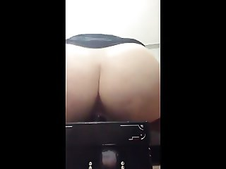 Thick girl fucking that big dildo