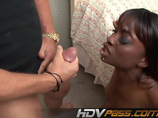 Ebony Babe Monique Anally Fucked By Big Dick