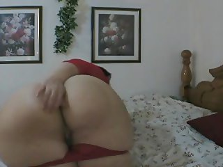 Mature BBW playing with her toy