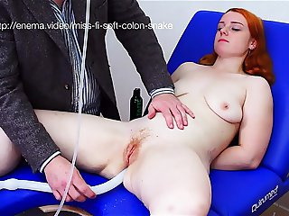 Miss Fi Takes An Enema With The Soft Colon Snake